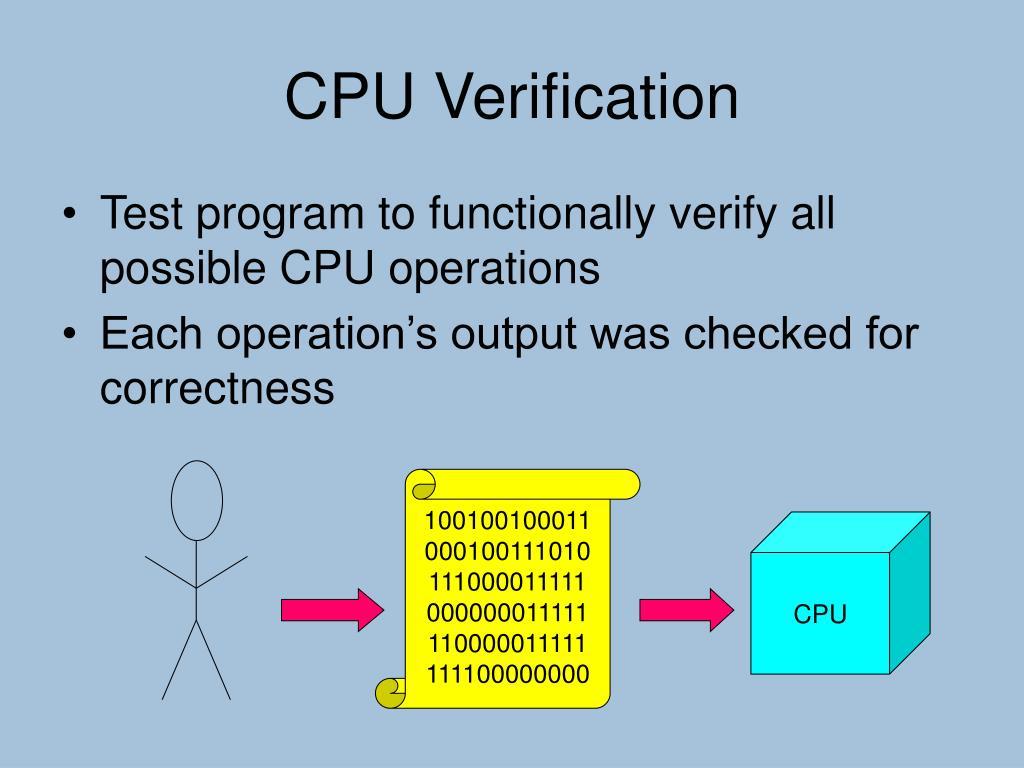 CPU Verification