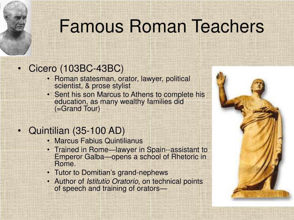 Famous Roman Teachers