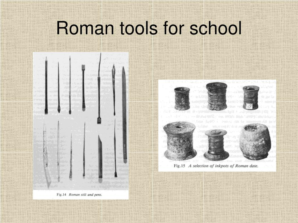 Roman tools for school