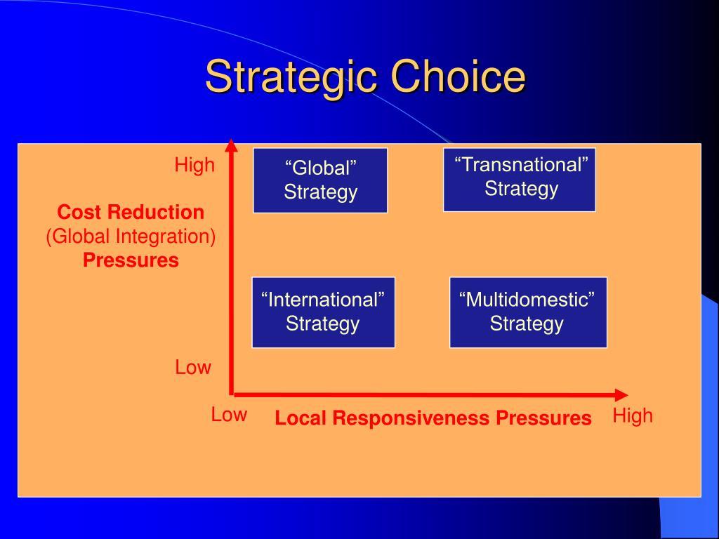 Strategic Choice