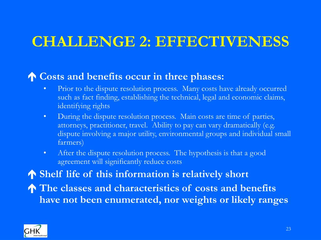 CHALLENGE 2: EFFECTIVENESS