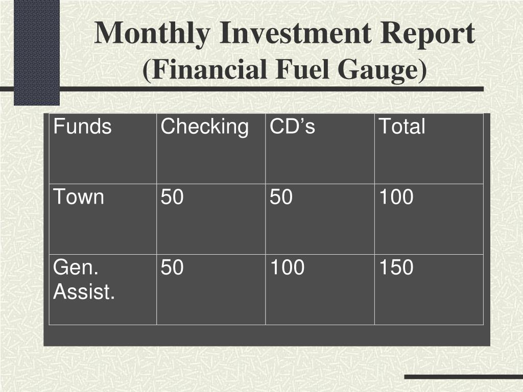 Monthly Investment Report