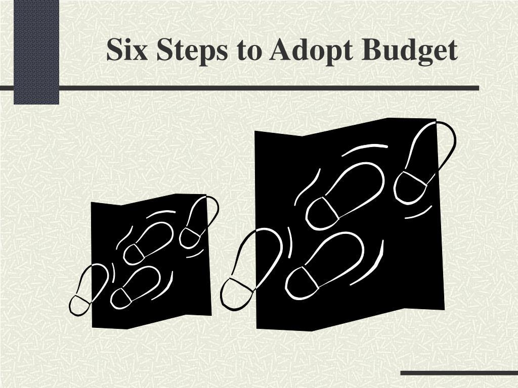 Six Steps to Adopt Budget