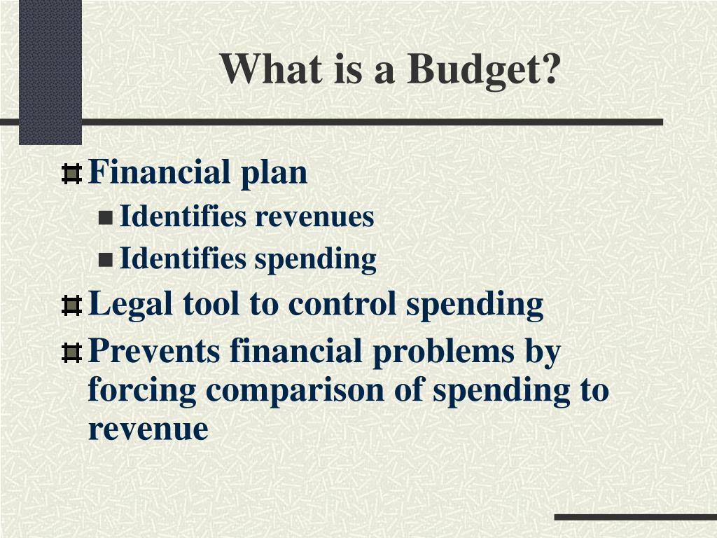 What is a Budget?