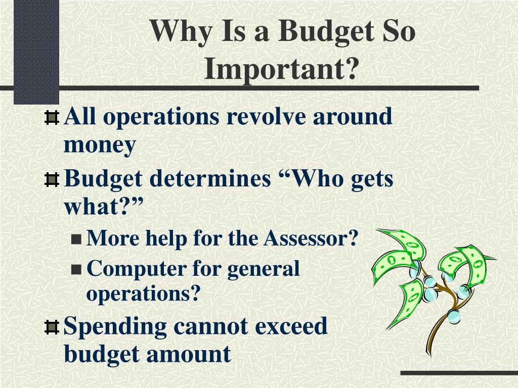 Why Is a Budget So Important?