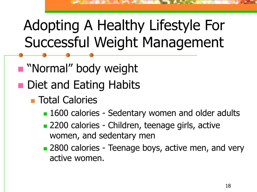 Adopting A Healthy Lifestyle For Successful Weight Management