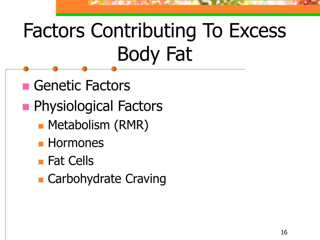 Factors Contributing To Excess Body Fat