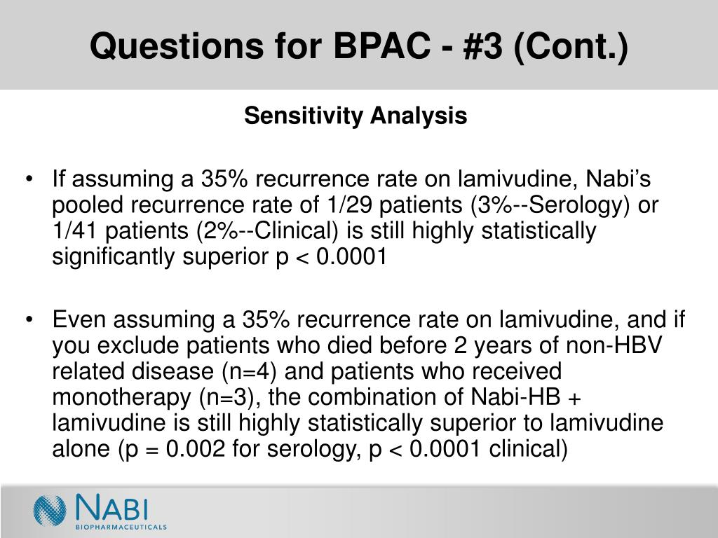 Questions for BPAC - #3 (Cont.)