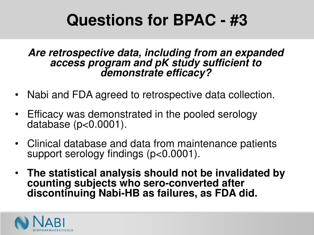 Questions for BPAC - #3