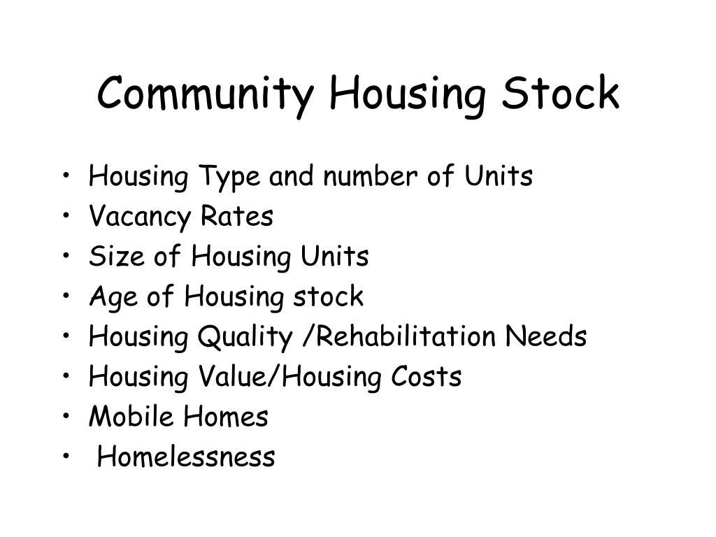 Community Housing Stock