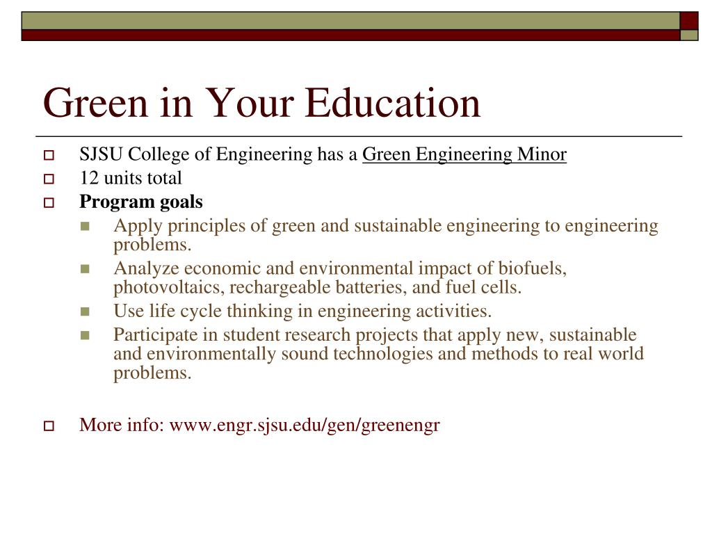 Green in Your Education