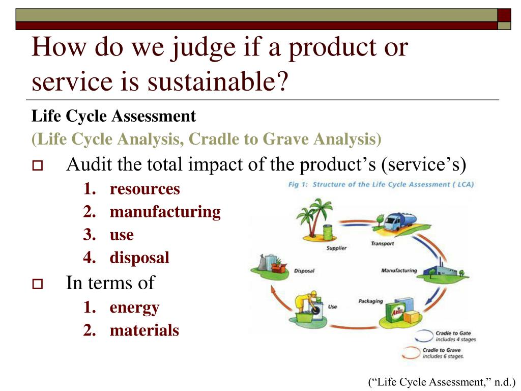 How do we judge if a product or service is sustainable?