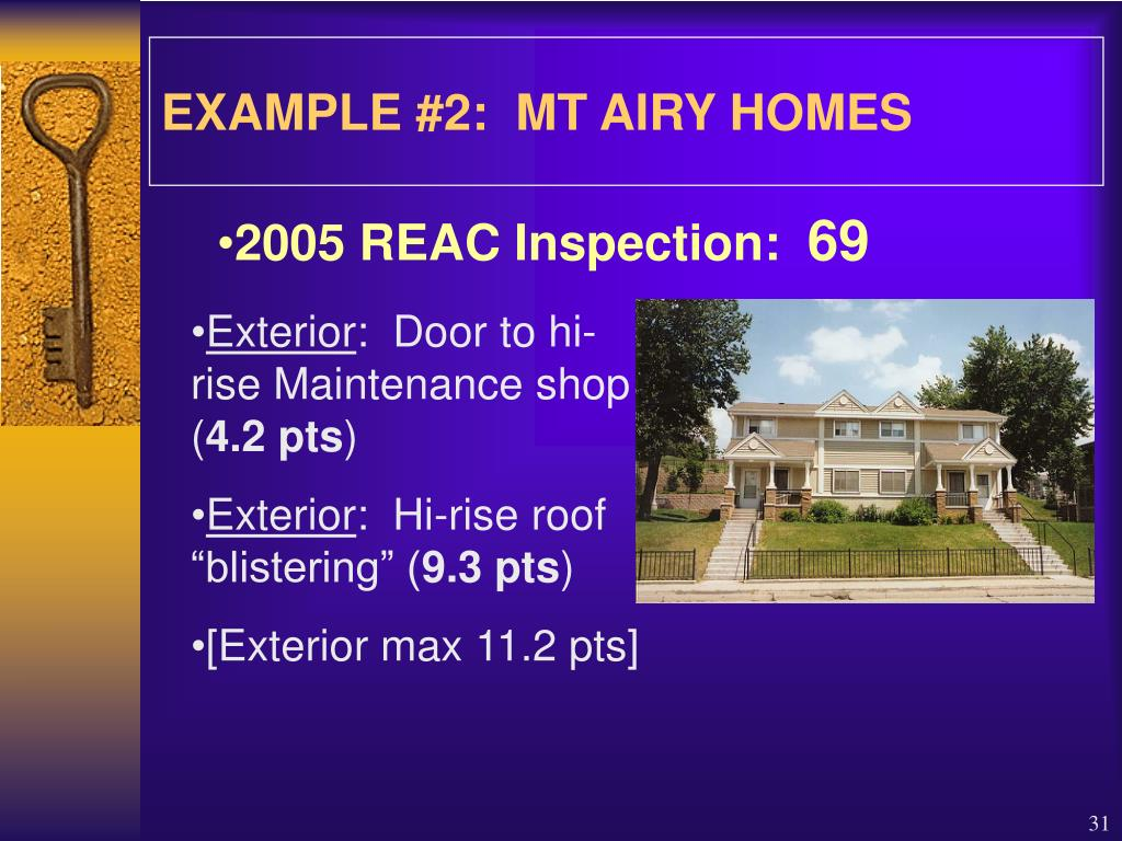 EXAMPLE #2:  MT AIRY HOMES