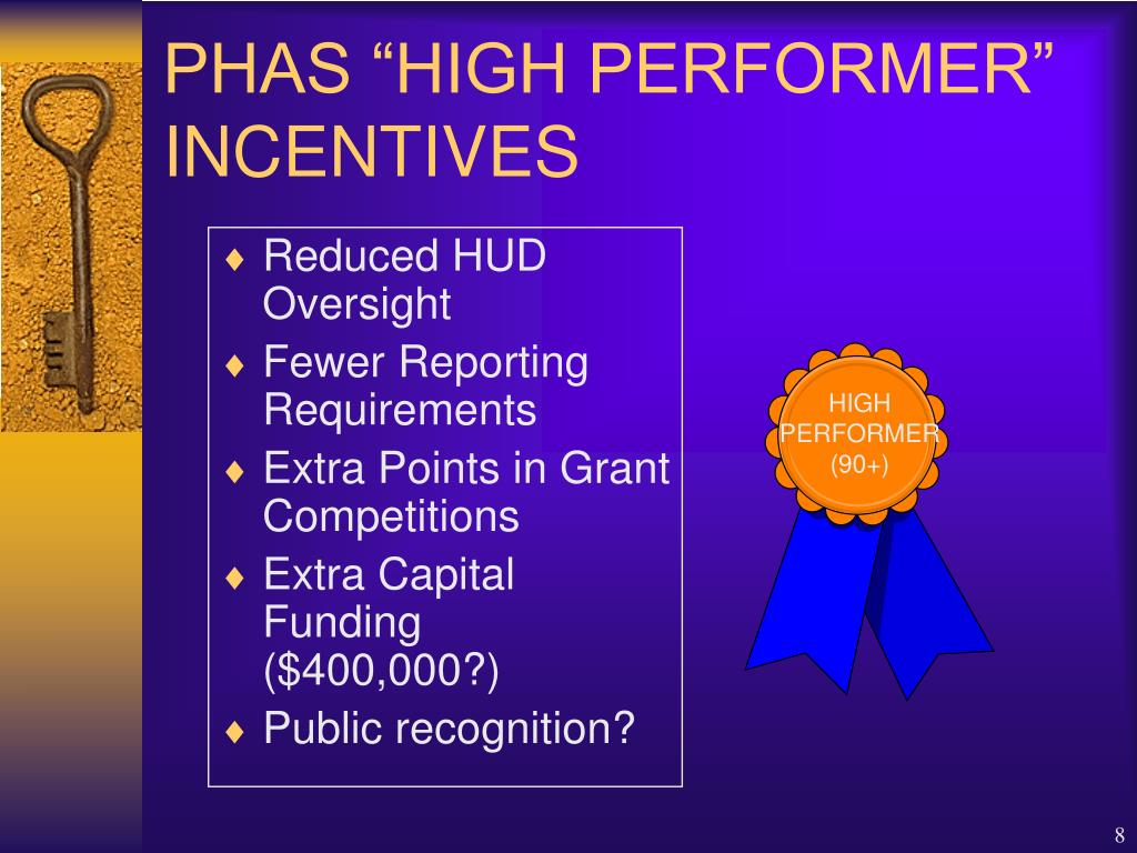 """PHAS """"HIGH PERFORMER"""" INCENTIVES"""