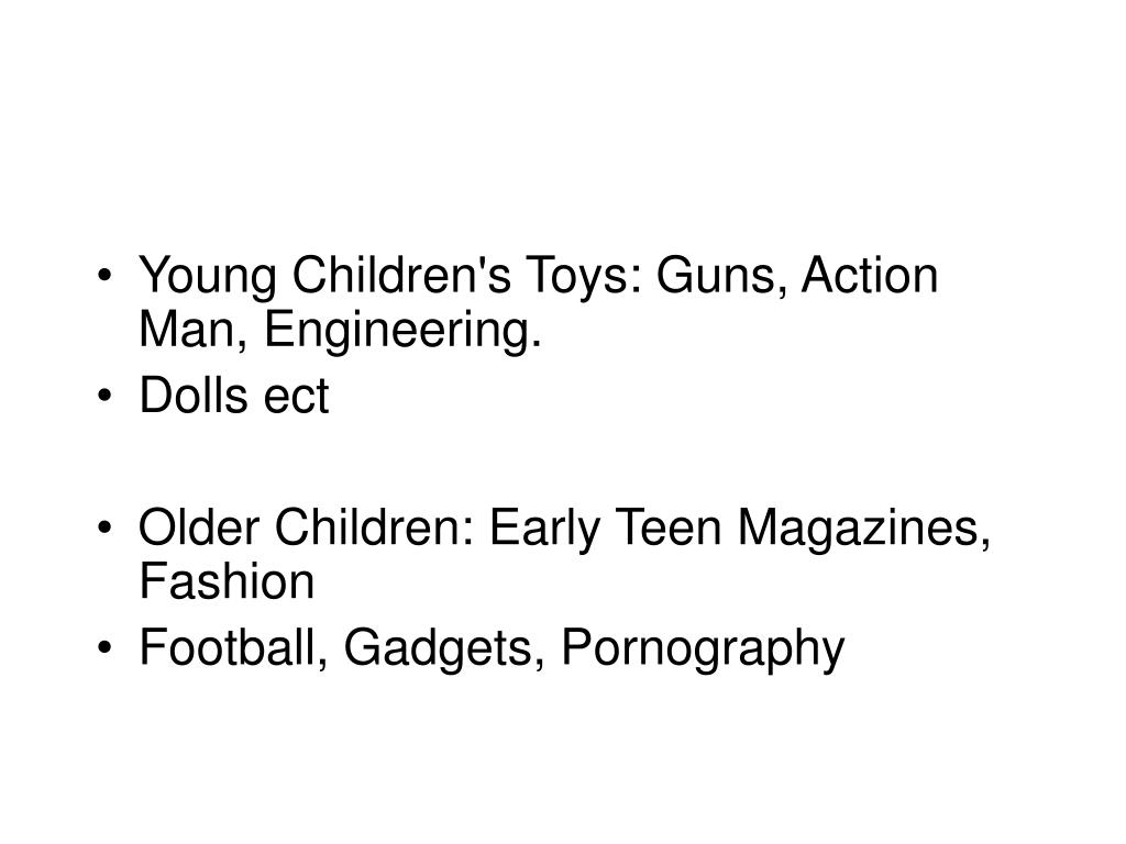 Young Children's Toys: Guns, Action Man, Engineering.