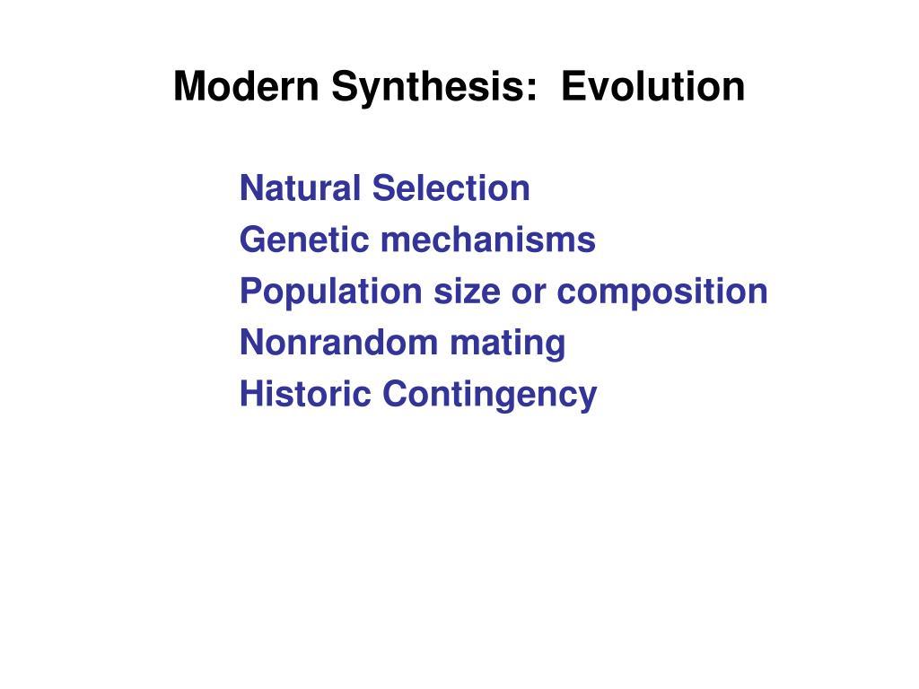 Modern Synthesis:  Evolution