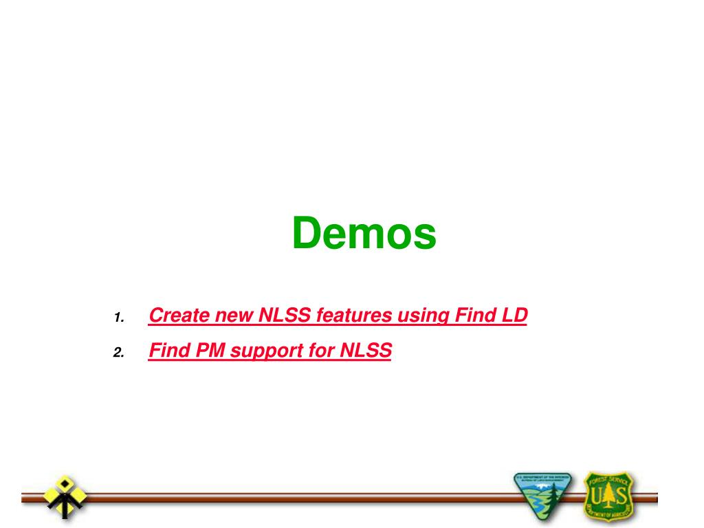 Create new NLSS features using Find LD