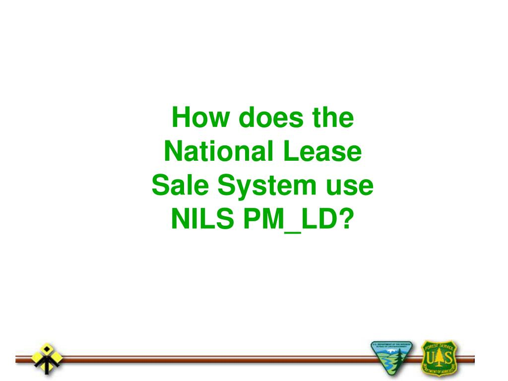 How does the National Lease Sale System use NILS PM_LD?