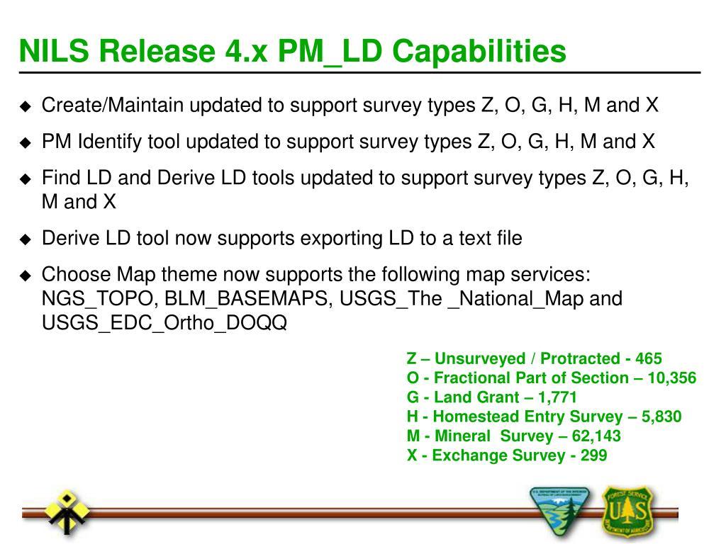 NILS Release 4.x PM_LD Capabilities