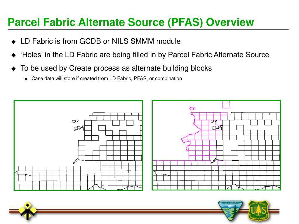Parcel Fabric Alternate Source (PFAS) Overview