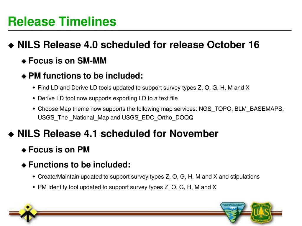 Release Timelines