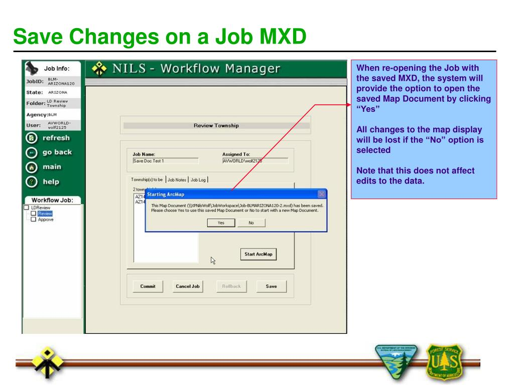 Save Changes on a Job MXD