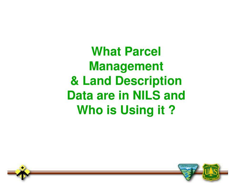 What Parcel Management