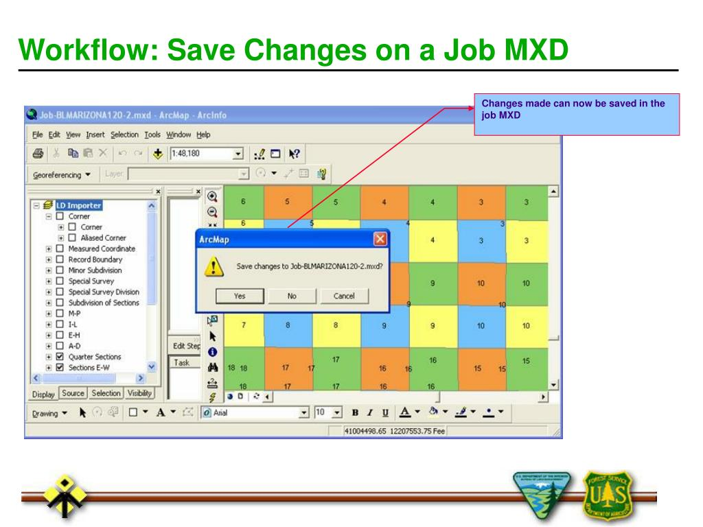Workflow: Save Changes on a Job MXD