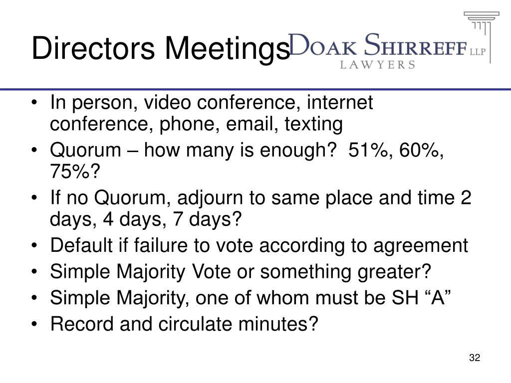 Directors Meetings