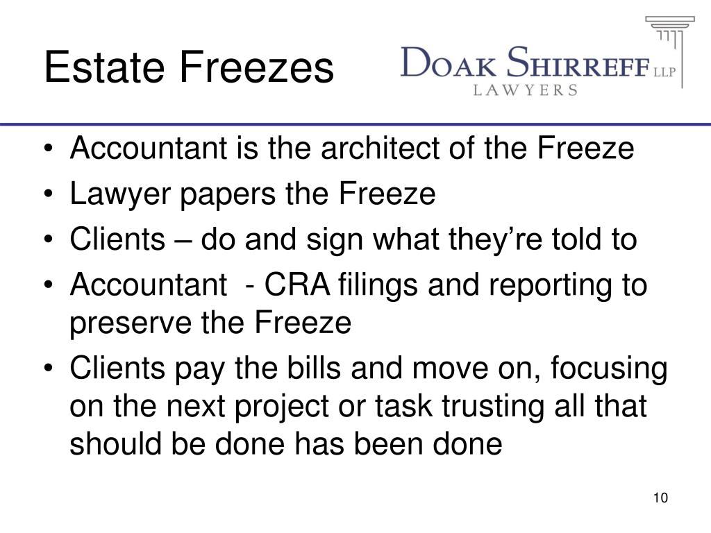 Estate Freezes