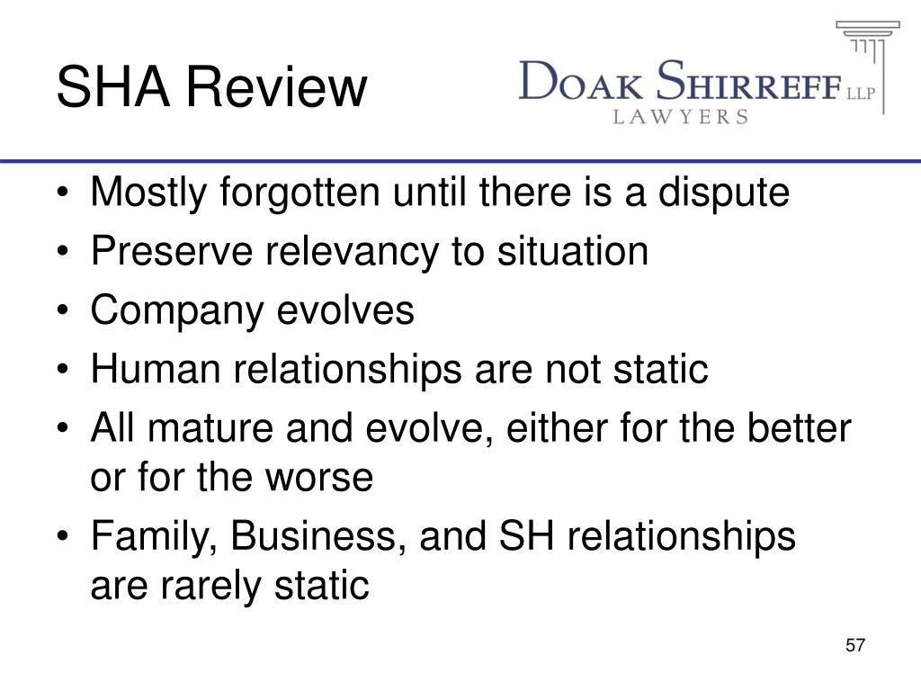 SHA Review