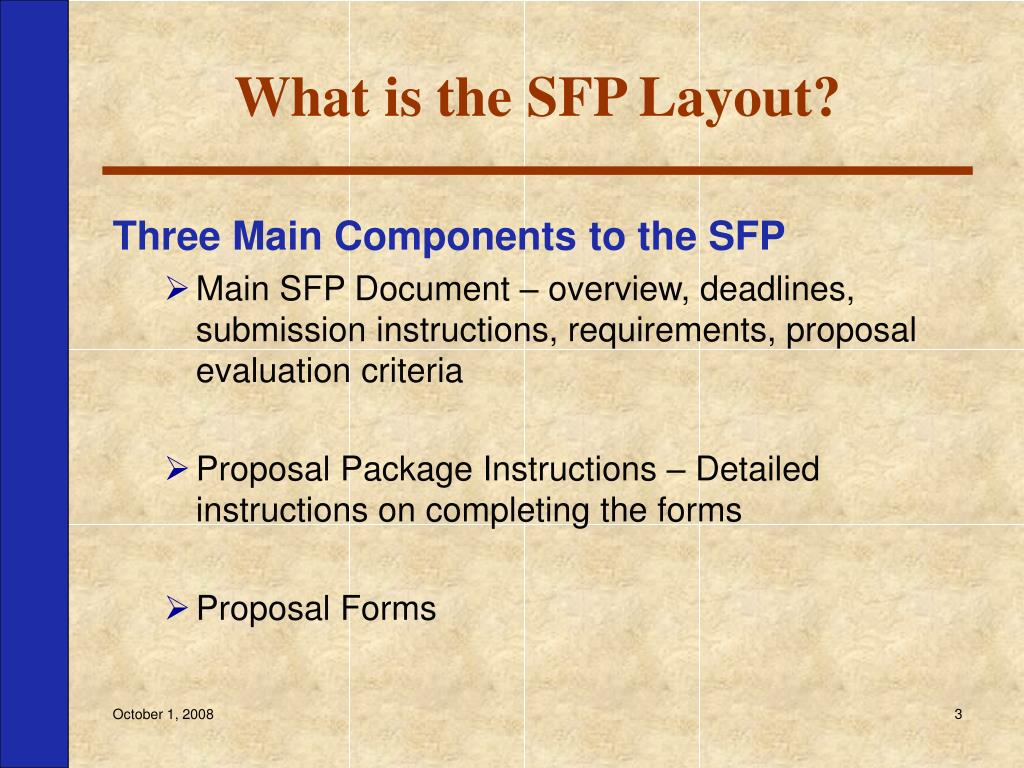 What is the SFP Layout?
