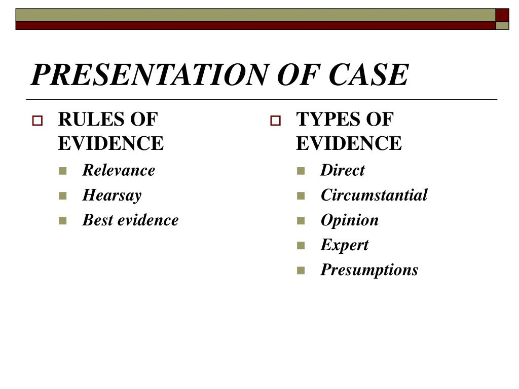 PRESENTATION OF CASE