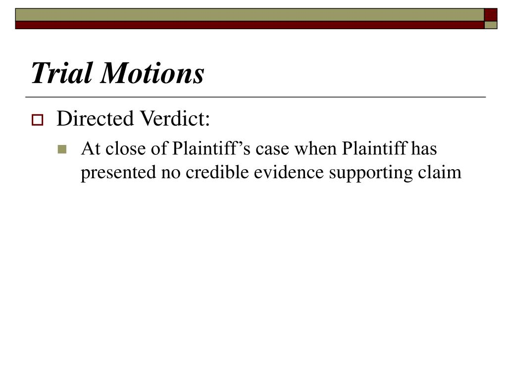 Trial Motions