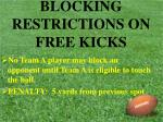 blocking restrictions on free kicks37