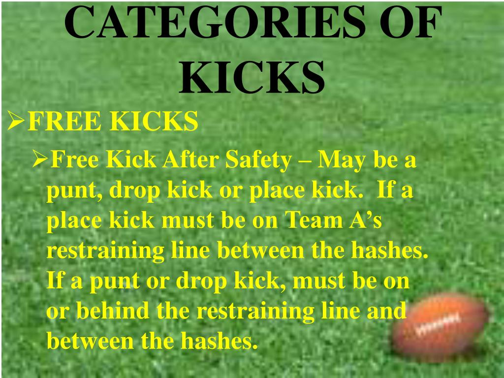 CATEGORIES OF KICKS