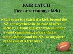 fair catch free or scrimmage kick25
