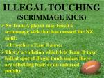illegal touching scrimmage kick