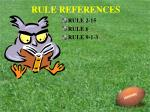 rule references