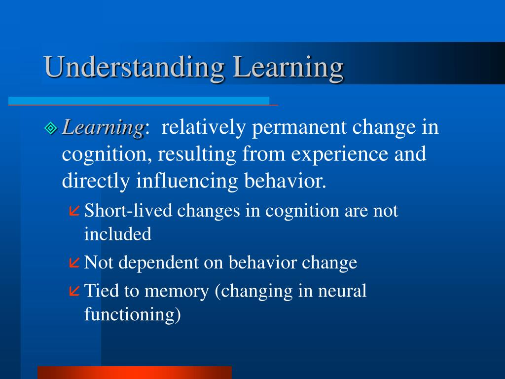 Understanding Learning