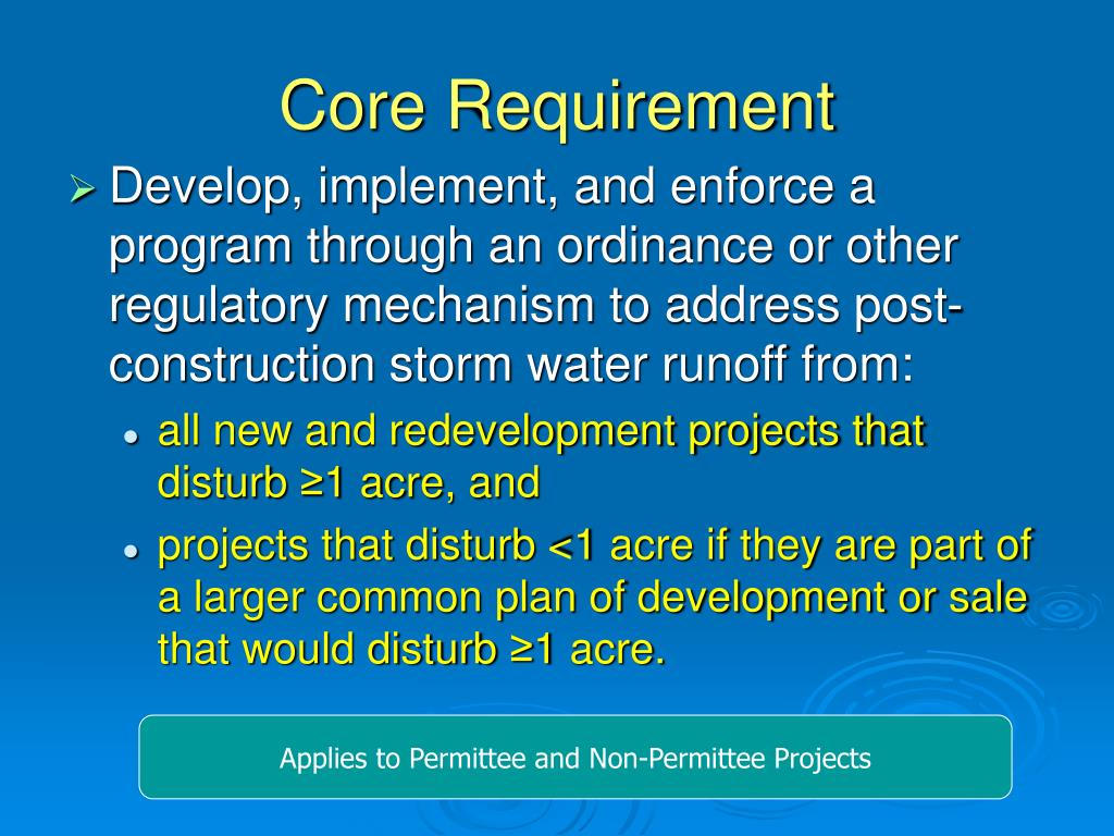 Core Requirement