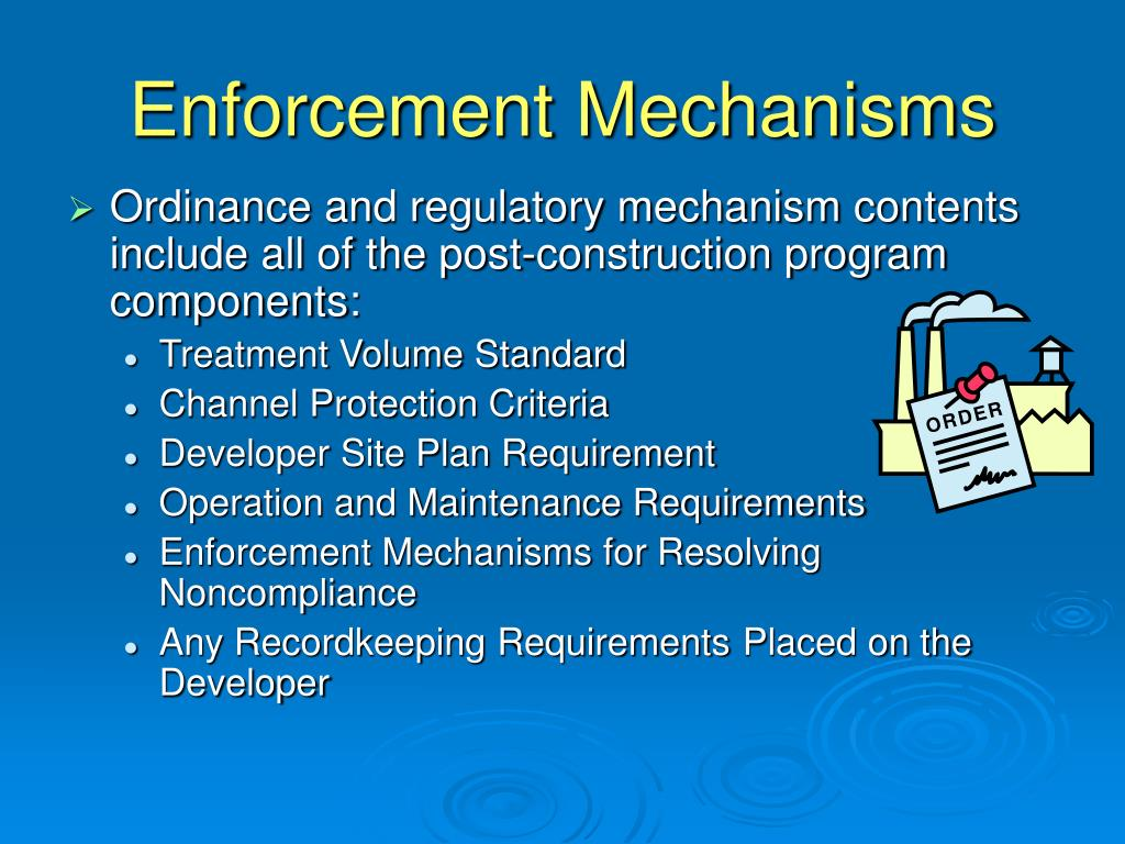 Enforcement Mechanisms