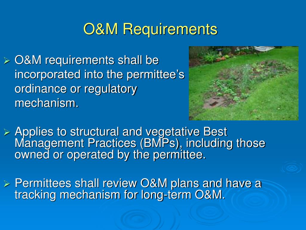 O&M Requirements