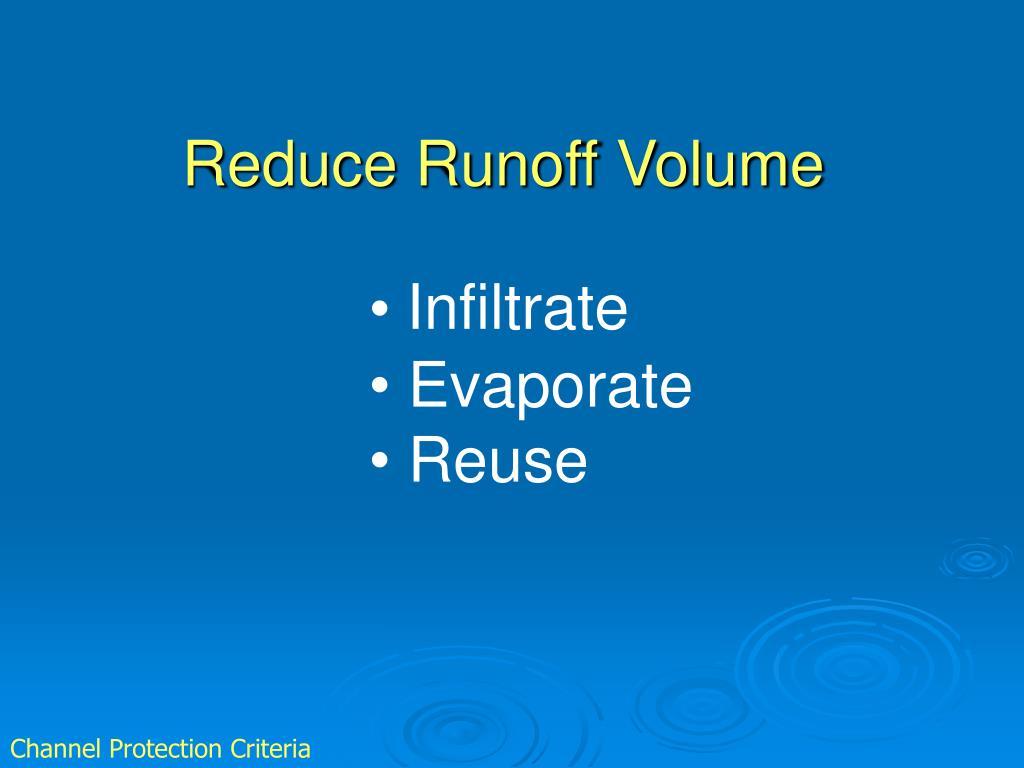 Reduce Runoff Volume