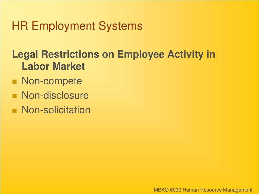 HR Employment Systems