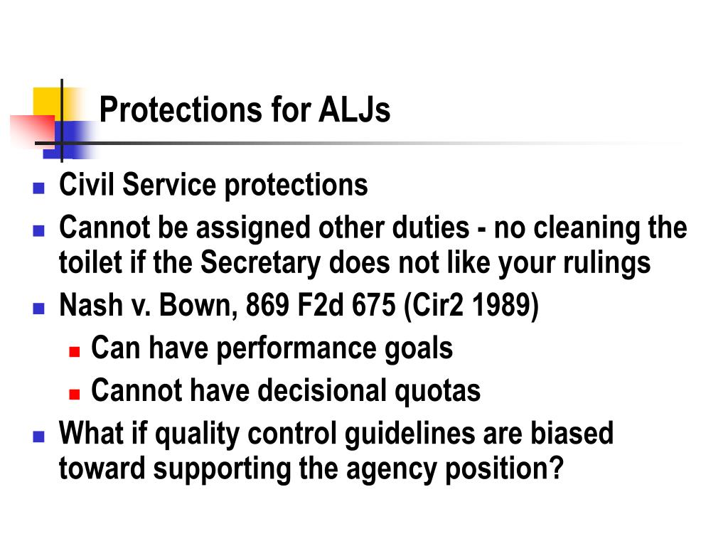 Protections for ALJs