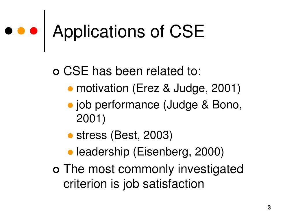 Applications of CSE