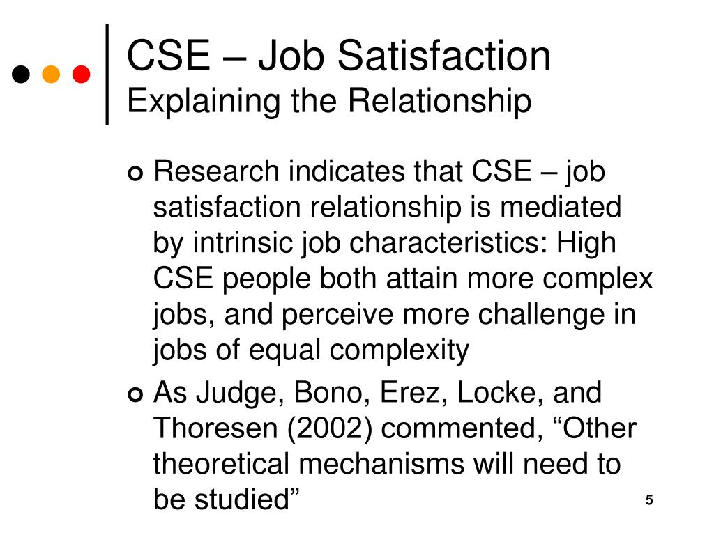 CSE – Job Satisfaction