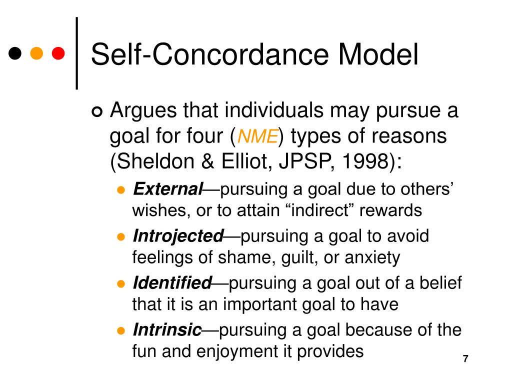 Self-Concordance Model