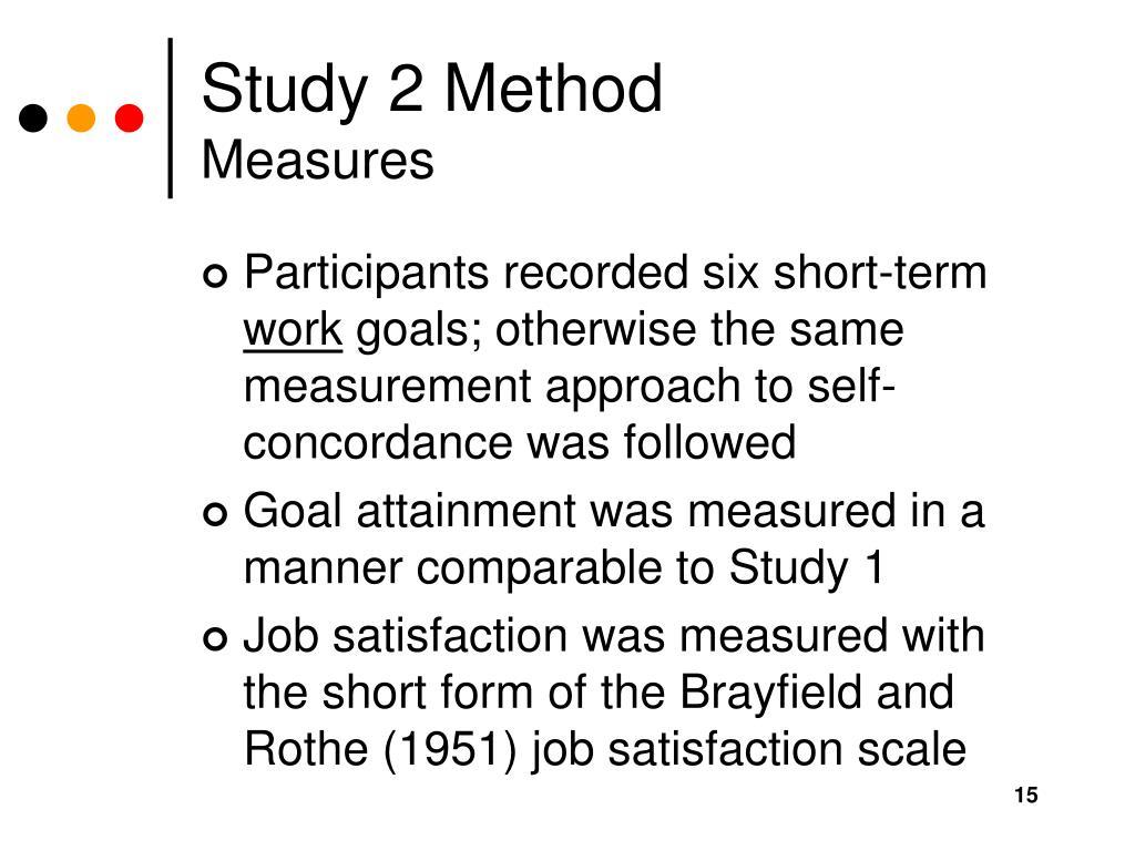 Study 2 Method